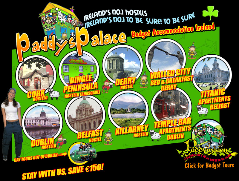Paddys Palace - Budget Hostels and Hostellos in Ireland